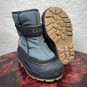L.L. Bean Insulated Waterproof Snow Boots Gray